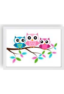 Quadro Love Decor Decorativo Infantil Owl Family