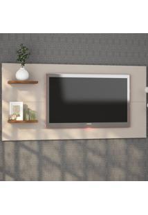 Painel Para Tv Até 55 Polegadas Giz Off White/Seda - Viero Móveis