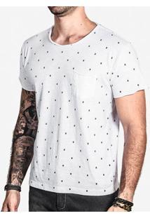 Camiseta Bigotes Branca 0094