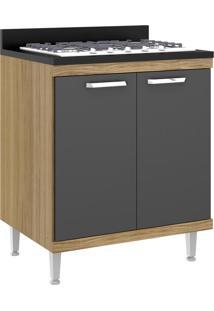 Armário De Cozinha Sicília 2 Portas Premium Argila/Grafite - Multimóveis