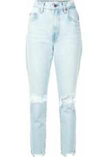 Nobody Denim Calça Jeans Slim Franke Cintura Alta - Azul