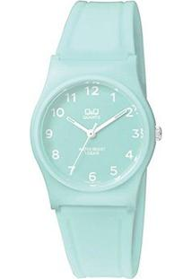 Relógio Qq De Pulso Analógico Vp34J070Y Feminino - Feminino-Azul