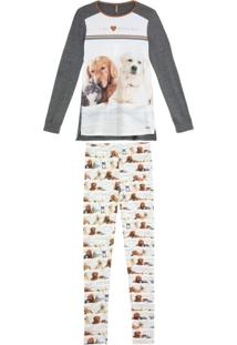 Pijama Feminino Lua Luá Legging Viscolycra Pets