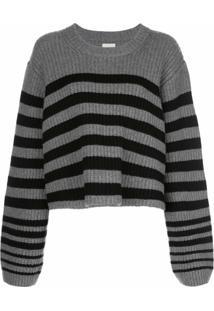 Khaite Suéter Dotty De Lã Com Listras - Cinza