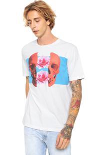 Camiseta Diesel Estampada Branca