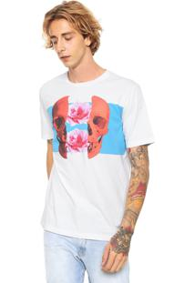 Camiseta Diesel Just Estampada Branca