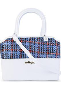 Bolsa Petite Jolie Handbag Feminina - Feminino-Branco+Azul
