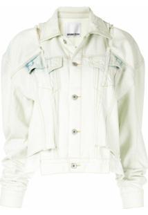 Ground Zero Jaqueta Jeans Com Recortes - Branco