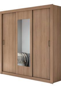 Guarda Roupa Casal C/ Espelho 3 Portas 3 Gavetas Apoena Mã³Veis Lopas Marrom - Marrom - Dafiti
