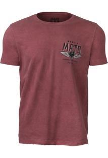 Camiseta Made In Mato – Estonado Bordo