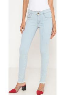 Jeans Skinny Low Desfiado- Azul Claro- Lança Perfumelança Perfume