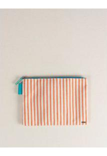 Necessaire Listras Color - Papaya U