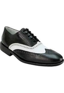 Sapato Social Sandro & Co Masculino - Masculino-Preto+Branco