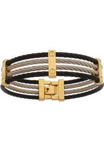 Bracelete De Aço Inox Tudo Jóias Com 15Mm De Largura Black