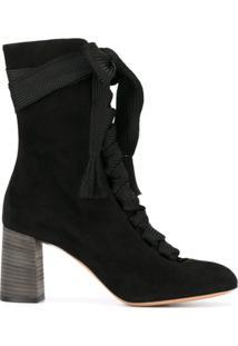 Chloé Ankle Boot Modelo 'Harper' - Preto