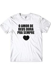 Camiseta Gospel Amor De Deus Masculina - Masculino