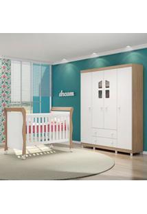 Quarto De Bebê Guarda Roupa Amore E Berço Colonial Baby Certificado Pe