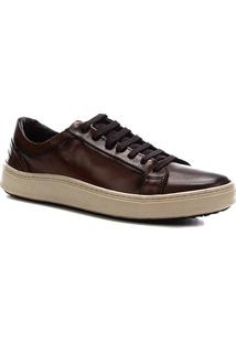 Sapatênis Couro Shoestock Napa Vick Basic Masculino - Masculino-Marrom