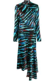 House Of Holland Tie-Dye Panelled Dress - Azul