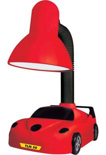 Luminária De Mesa Taschibra Tlm 50 Kids Carrinho Vermelho