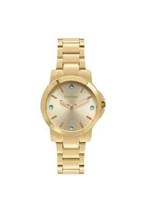 Relógio Condor Feminino Clássico Analógico Dourado Co2035Eyfk4D