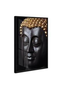 Quadro 75X50Cm Buda Zen Moldura Sem Vidro Decorativo Interiores - Oppen House