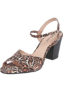 Sandália Dafiti Shoes Tiras Onça