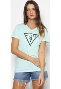 "Blusa ""Guess�""- Verde ÁGua & Pretaguess"