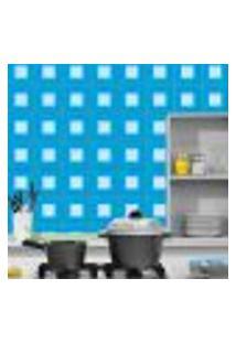 Adesivo De Azulejo Azul 15X15Cm