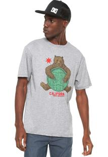 Camiseta Dc Shoes Bearly Legal Cinza