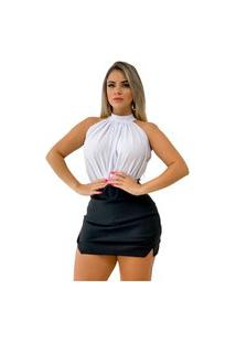 Body Blusa Gola Alta Regata Liso Moda Feminina + Brinde45