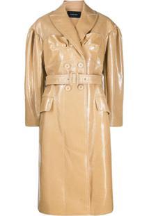 Simone Rocha Trench Coat Com Abotoamento Duplo - Neutro