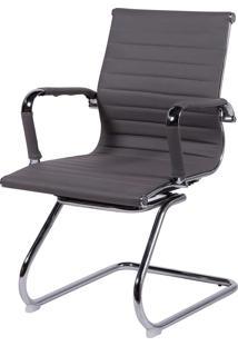 Cadeira Office Eames Esteirinha Fixa Cinza Or Design