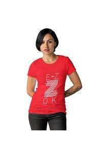 Camiseta Feminina Ezok Z Vermelho