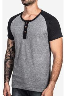 Camiseta College Eco Preto 100180