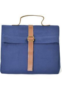 Bolsa Tã©Rmica Triangulo- Azul & Marrom Claro- 20X24Xboxmania