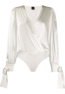 Pinko Body Com Transpasse - Branco