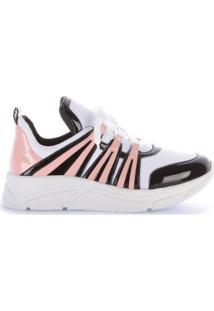 Tênis Di Valentini Runner Sneaker Verniz Feminino - Feminino-Rosa