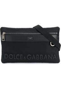 Dolce & Gabbana Pochete Com Gravação De Logo - Preto