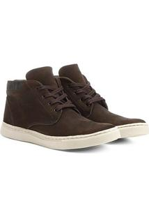 Sapatênis Couro Shoestock Nobuck Cano Alto Masculino - Masculino