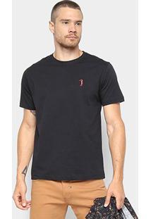 Camiseta Aleatory Básica Masculina - Masculino-Preto
