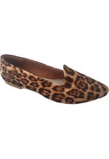 Slipper Feminino Sapatoweb Bico Fino - Feminino-Marrom