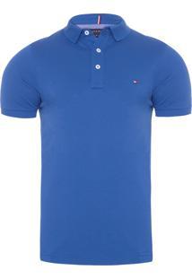 Polo Masculina Slim - Azul