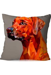 Capa De Almofada Avulsa Decorativa Dog Geométrico 35X35Cm