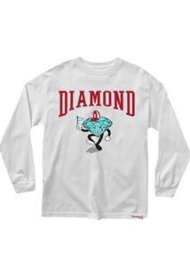 Camiseta Masculina Diamond Team Mascot Manga Longa - Masculino