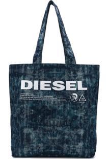 Diesel Printed Denim Tote - Azul
