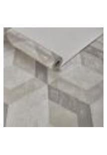 Papel De Parede Importado Geometrico Texturizado Bege 3D