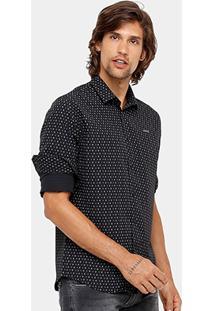 Camisa Colcci Estampada Slim Masculina - Masculino