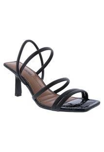 Sandália Dakota Salto Fino Tiras Preto