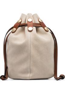 Marni White Bindle Suede Bracelet Bag - Branco